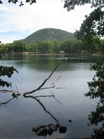 Anthony's Nose from the Major Welch Trail along Hessian Lake. Photo by Daniel Chazin.