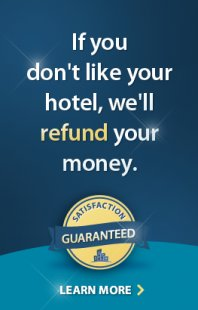 If you don't like your hotel, we'll refund your money.