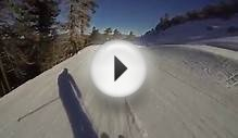 Groomer ski run with GoPro at Big Bear Mountain