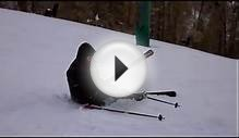 Ski Crash at Bear Mountain in Big Bear California
